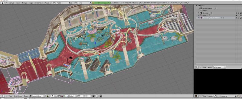 Fusión de texturas y modelo en un único mesh con una sola textura en BLENDER 320