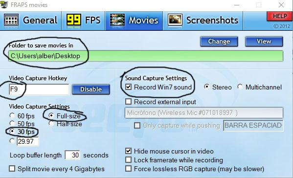 FRAPS: Mantener la misma calidad de vídeo que en The Movies B12