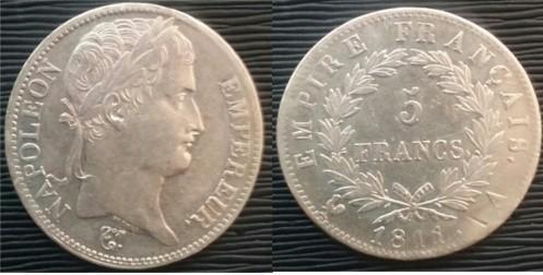 5 Francos Francia 1811 Napoleón Bonaparte 20171112