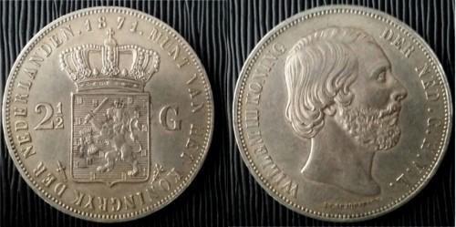 2 1/2 Gulden Willem III Paises Bajos 1871 20171210