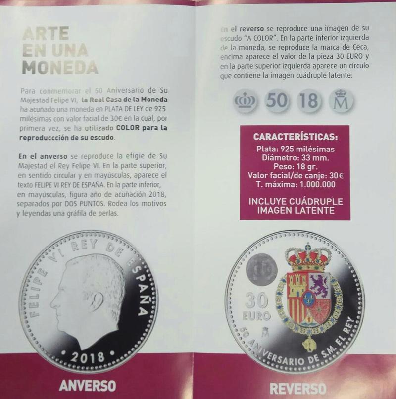 Esta es la moneda de colores con la que España conmemorará el 50 cumpleaños del rey Felipe VI  Img-2010