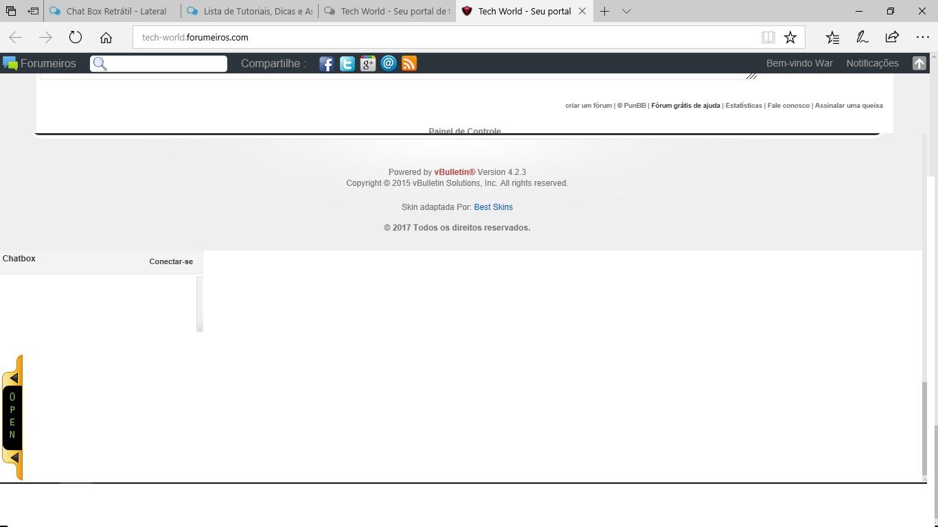 Chat Box Retrátil - Lateral Prob10