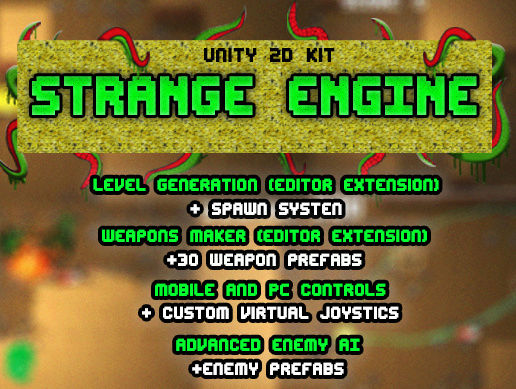 "[Asset Store][[MEGA SALE!!!]] 2D Top Down KIT - ""Strange Engine"". Largep10"