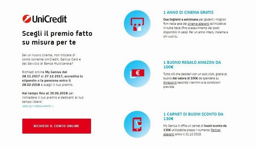 APERTURA CONTO CORRENTE UNICREDIT Cattur10