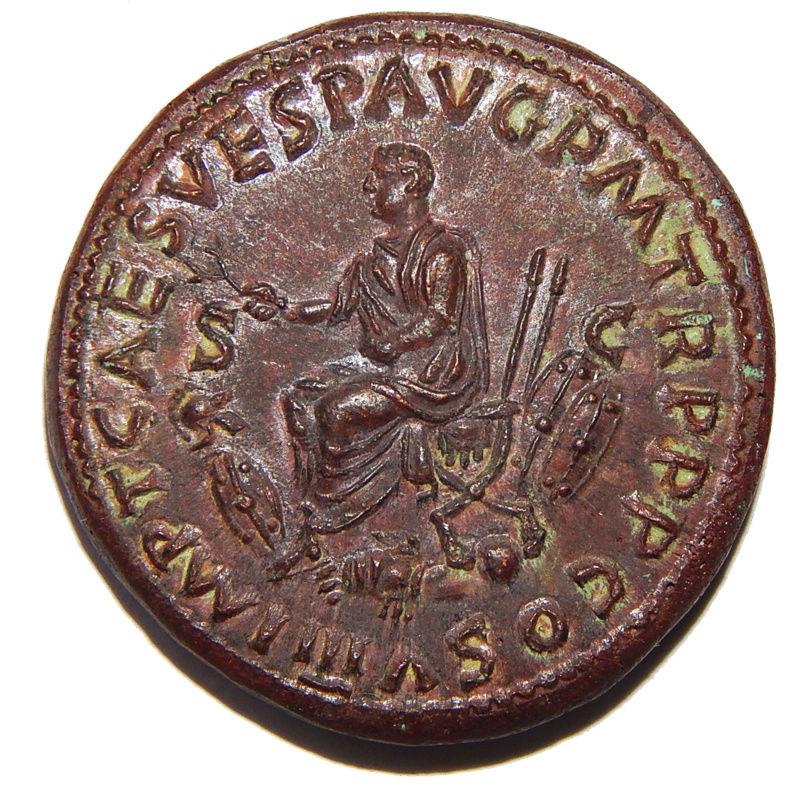 Reproducción de Sestercio de Tito. Coliseo Dscn6814