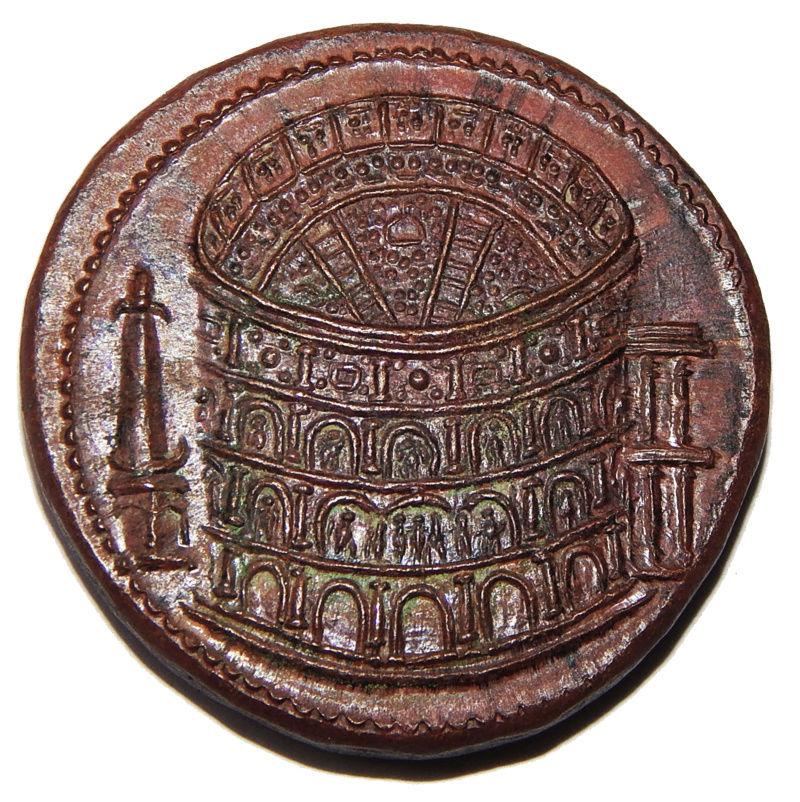Reproducción de Sestercio de Tito. Coliseo Dscn6815