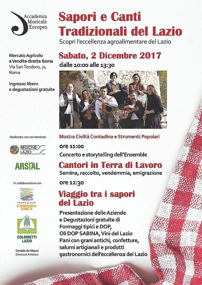 Sapori e Canti Tradizionali del Lazio Sabato 2 dicembre Roma Ita_a510