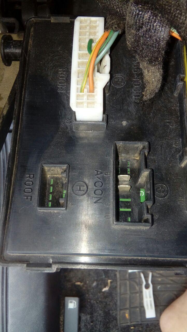 Conectores da caixa de fusível sem cabeamento  Ecu_210