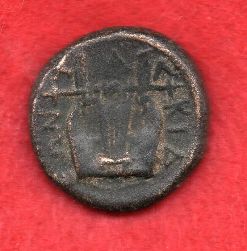 AE 16 de Olintos. Liga Calcídica. Lm002_13