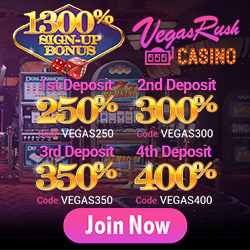 $75 No Deposit Bonus at Vegas Rush Casino