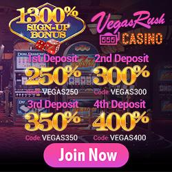 $75 No Deposit Bonus at Vegas Rush Casino