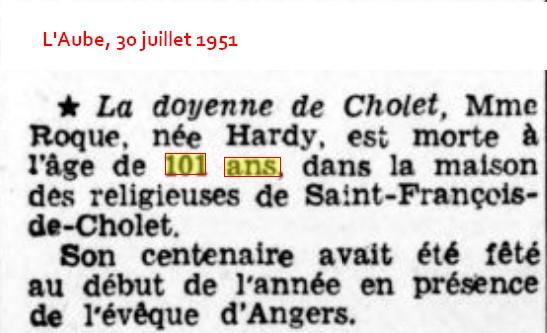 A- RECHERCHES SUR DE POSSIBLES CENTENAIRES DÉCÉDÉS - Page 2 Mme_ro10