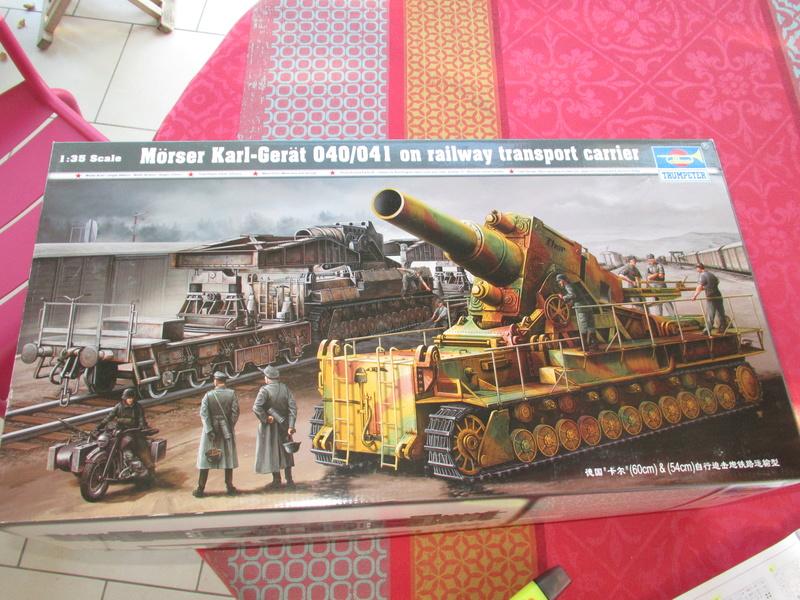 Canon porté sur rail Mörser Karl Gerät au 1/35 de Trumpeter Img_5654