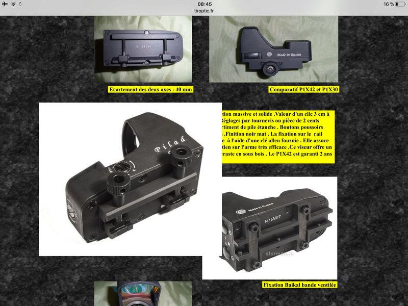 Interface rail de 11mm vers weaver pour point rouge 03925e10