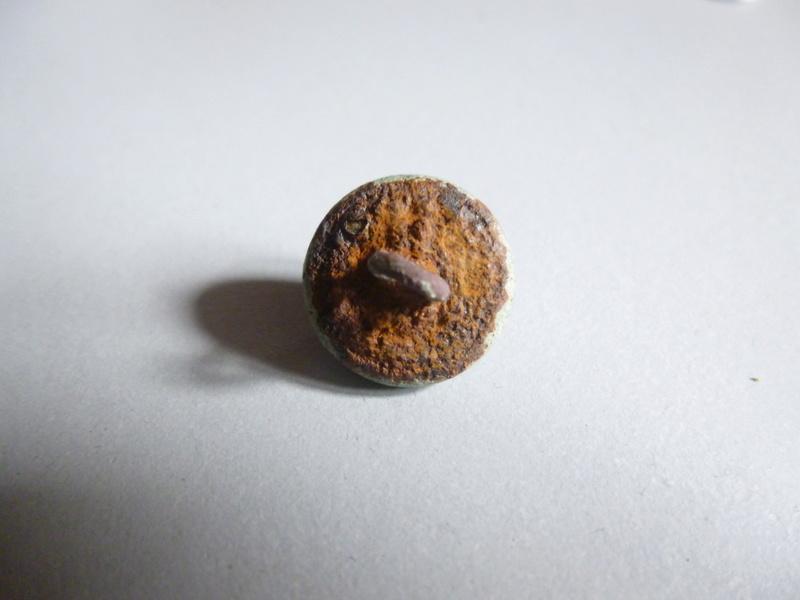 Bouton  fantaisie, bronze associé à de la patte de verre, pèriode XIXe début XXe siècle. Bouton16