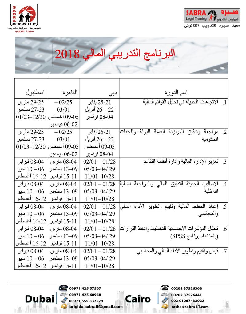 البرنامج التدريبي المالي 2018 Financ10
