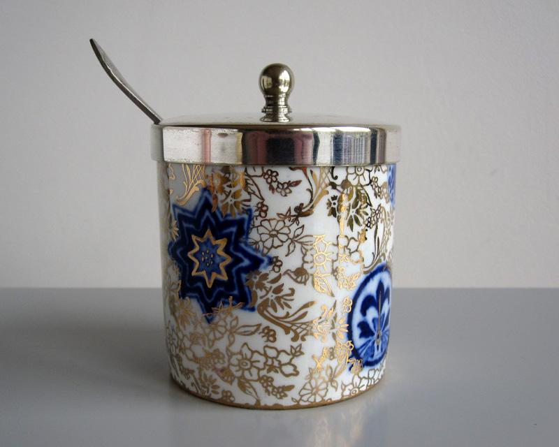 Jam pot - probably 19th century Bluego11