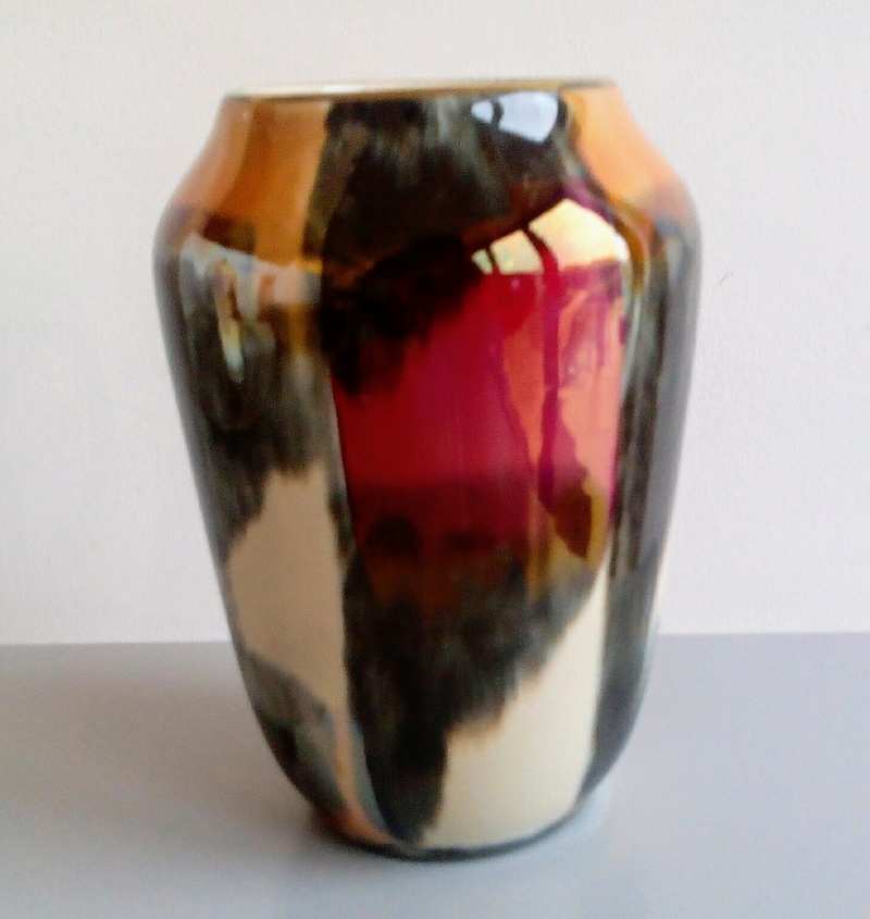 West German lustre vase Img_2031
