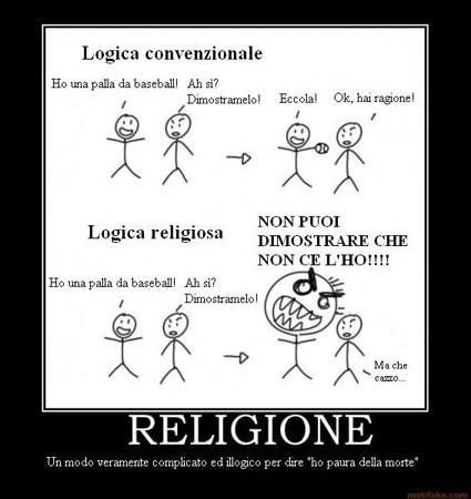 SLOGAN contro la religione Logica10