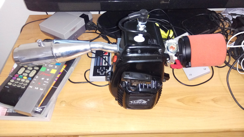 Moteur king motor 32cc sur fg marder Img_2038