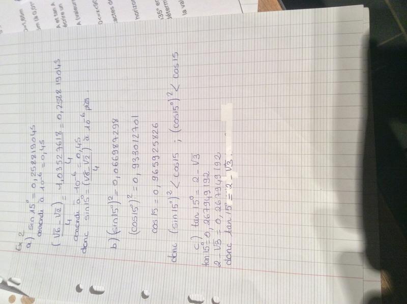 EXercice de trigonometrie  D1354210