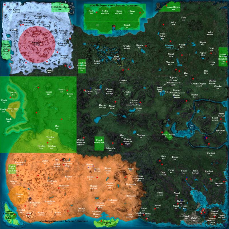 Mapas de Calypso - Localizações  Ark10