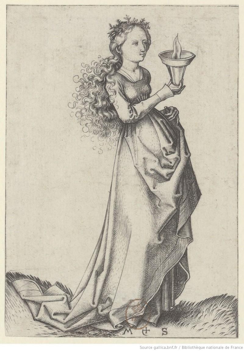 Les 10 vierges de Martin Schongauer. Les sages et les folles (c. 1480) 00112