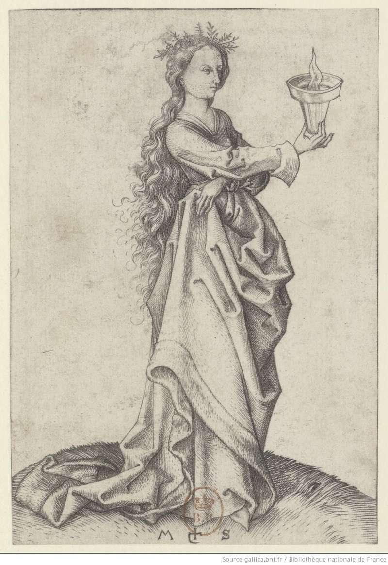 Les 10 vierges de Martin Schongauer. Les sages et les folles (c. 1480) 10310