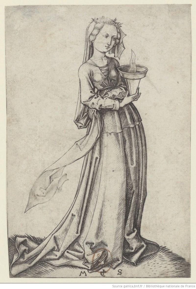 Les 10 vierges de Martin Schongauer. Les sages et les folles (c. 1480) 10410