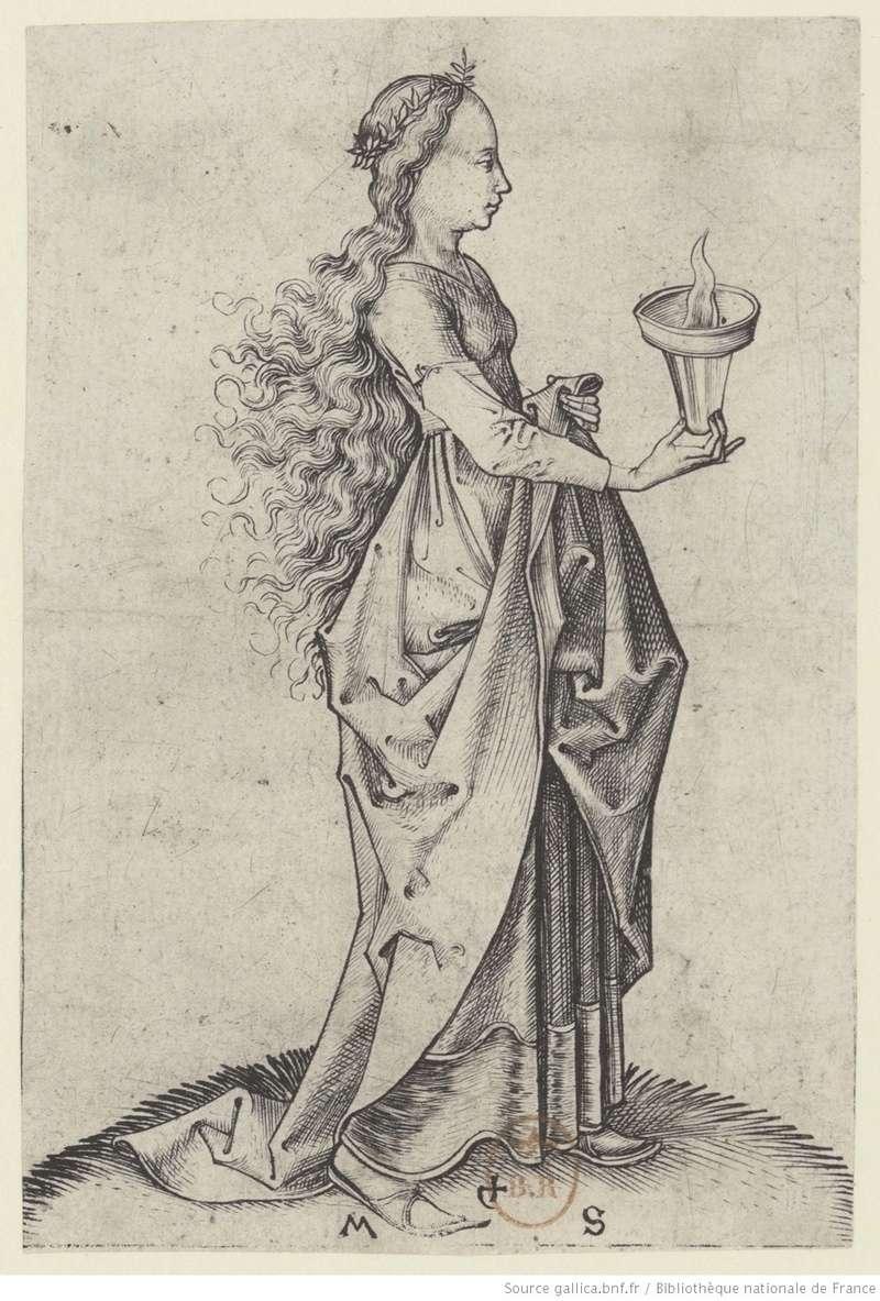 Les 10 vierges de Martin Schongauer. Les sages et les folles (c. 1480) 10510