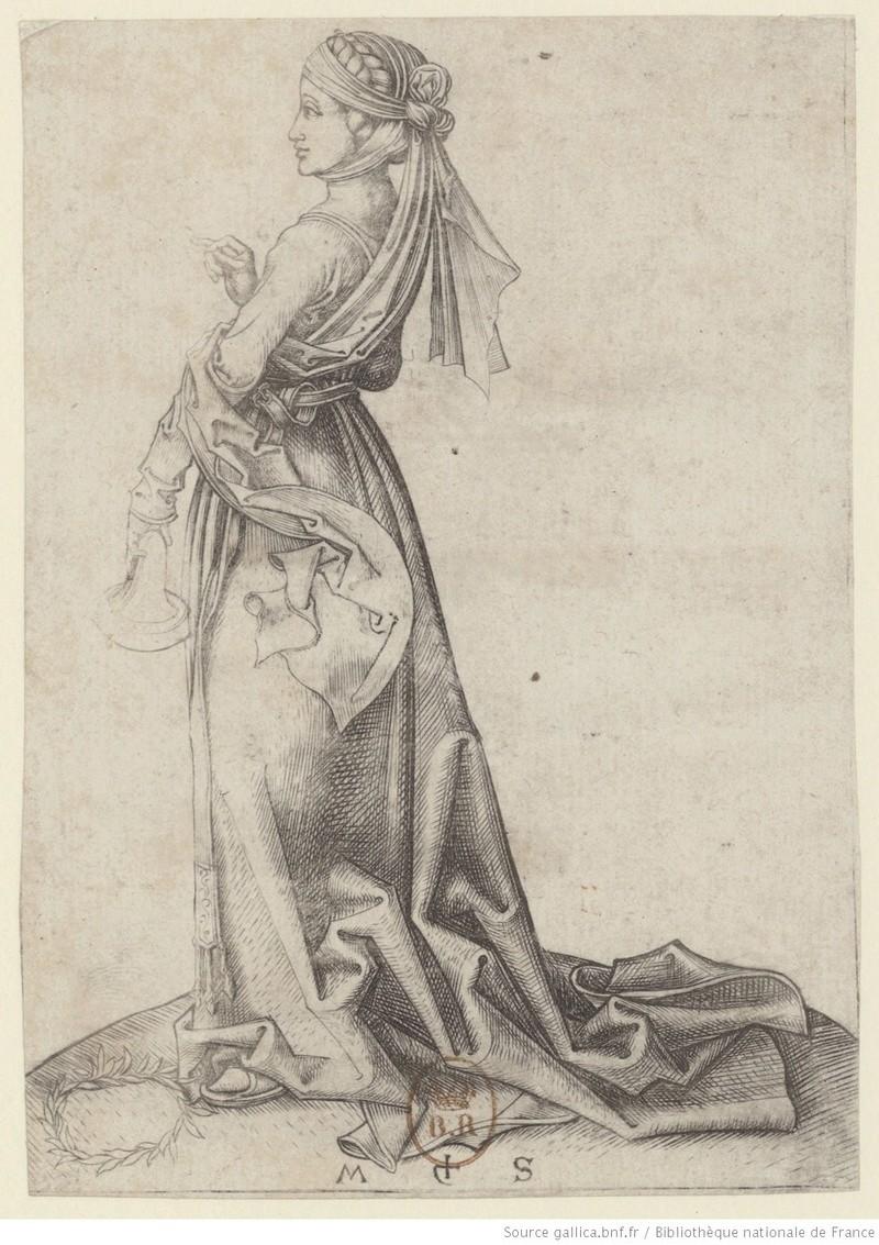 Les 10 vierges de Martin Schongauer. Les sages et les folles (c. 1480) 10610