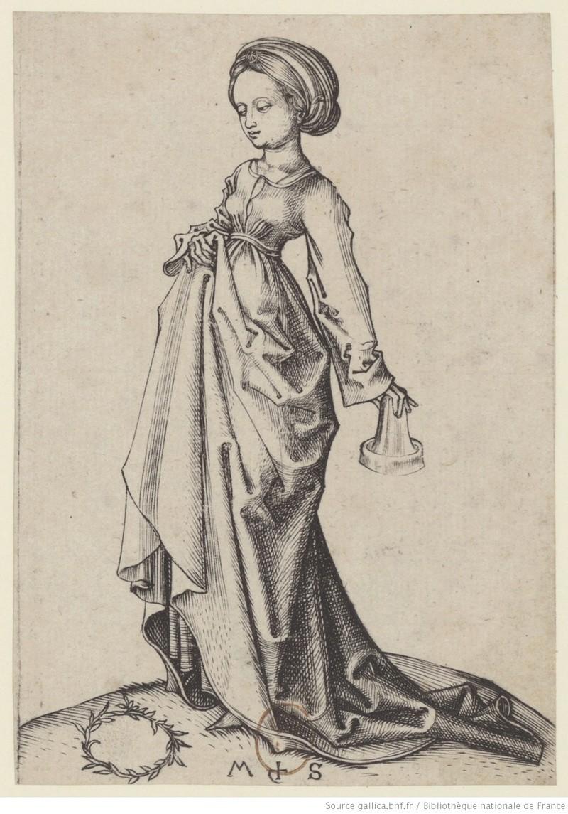 Les 10 vierges de Martin Schongauer. Les sages et les folles (c. 1480) 10710