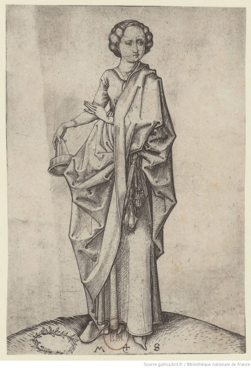 Les 10 vierges de Martin Schongauer. Les sages et les folles (c. 1480) 10910