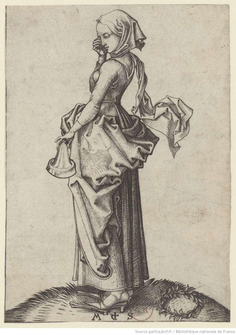 Les 10 vierges de Martin Schongauer. Les sages et les folles (c. 1480) 11010
