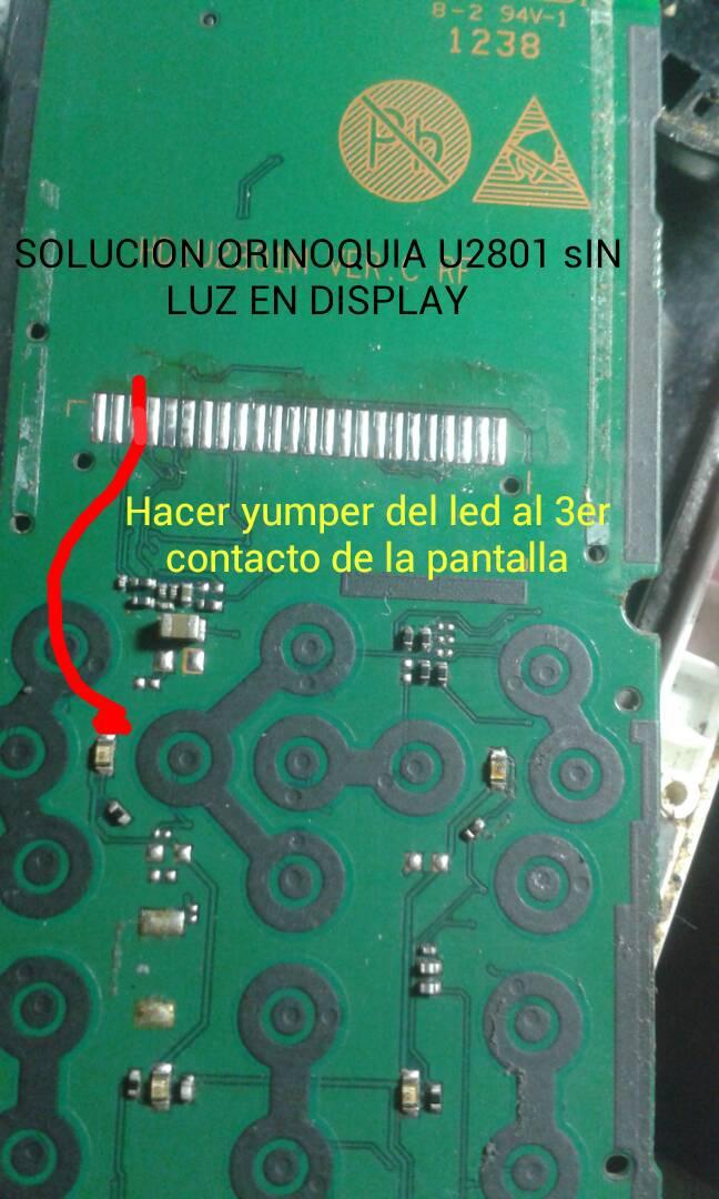 APORTE SOLUCION HUAWEI U2801 SIN LUZ EN DISPLAY  Orinoq13