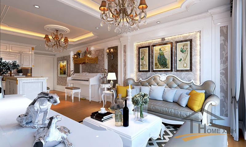 Căn chung cư được thiết kế theo phong cách tân cổ điển đẹp lung linh không thể bỏ qua Phyng_10