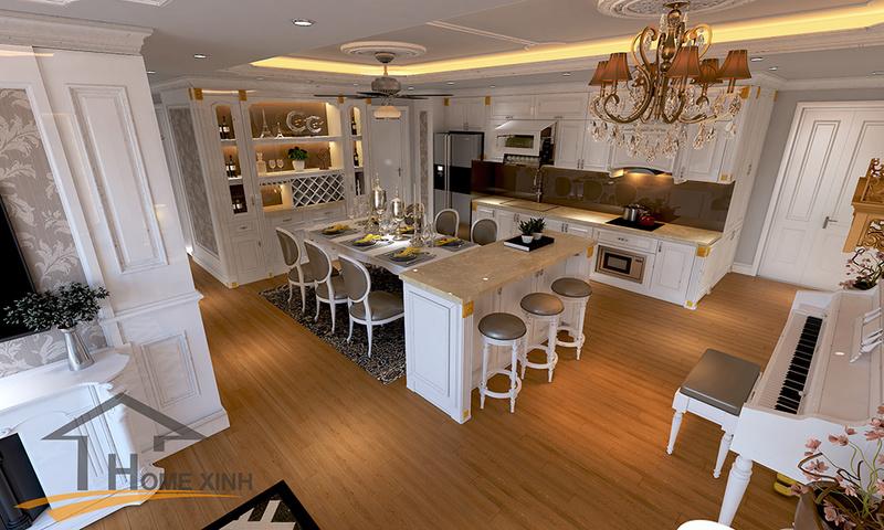Căn chung cư được thiết kế theo phong cách tân cổ điển đẹp lung linh không thể bỏ qua Phyng_11