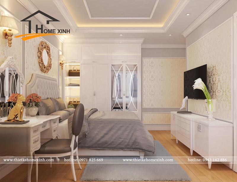 Căn chung cư được thiết kế theo phong cách tân cổ điển đẹp lung linh không thể bỏ qua Phyng_13