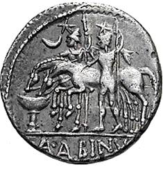 Glosario de monedas romanas. DIÓSCUROS. 610