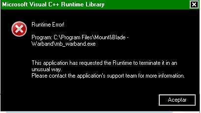 Error Microsoft visual C++ Runtime Library Proble11