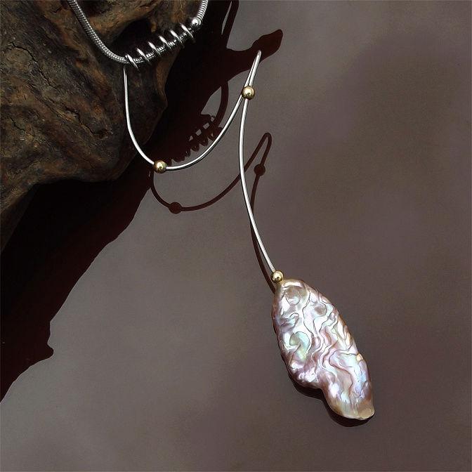 Perles sculptées Lavend10