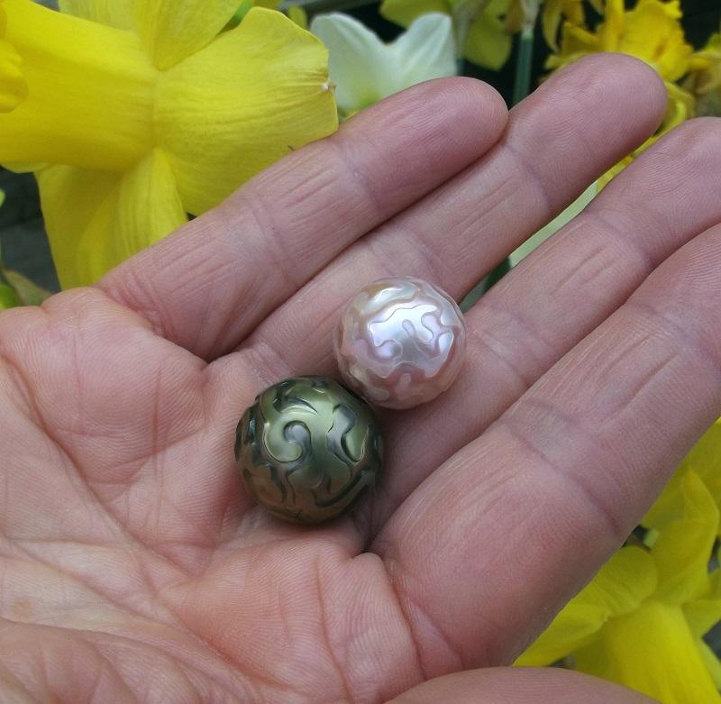 Perles sculptées Perles12