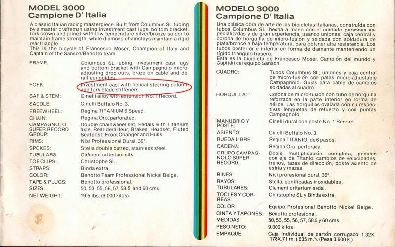 Benotto Modèle 3000 - 1978 Benott10