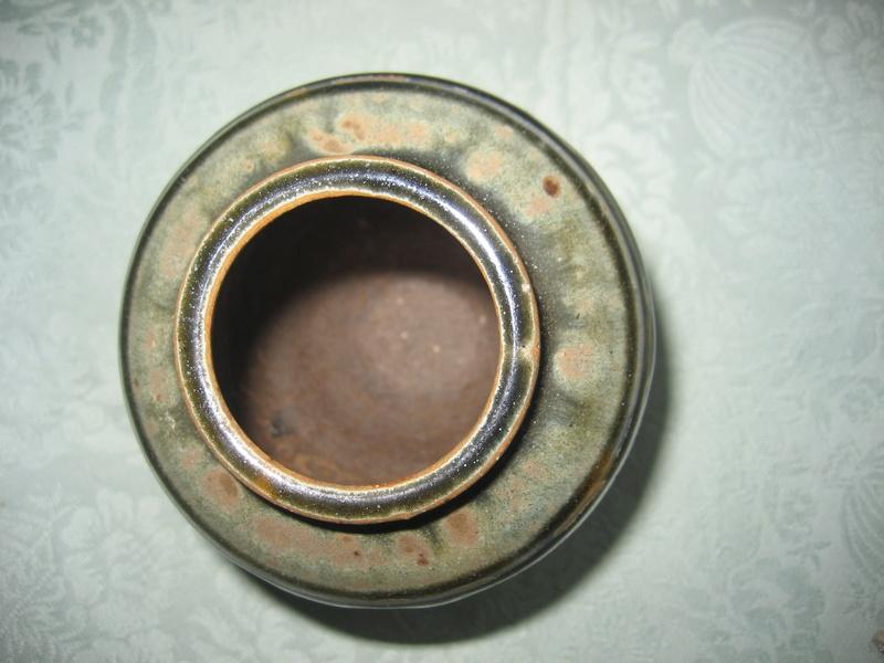 Great ash glazed vase, but whose?  Mike Dodd? Img_4211
