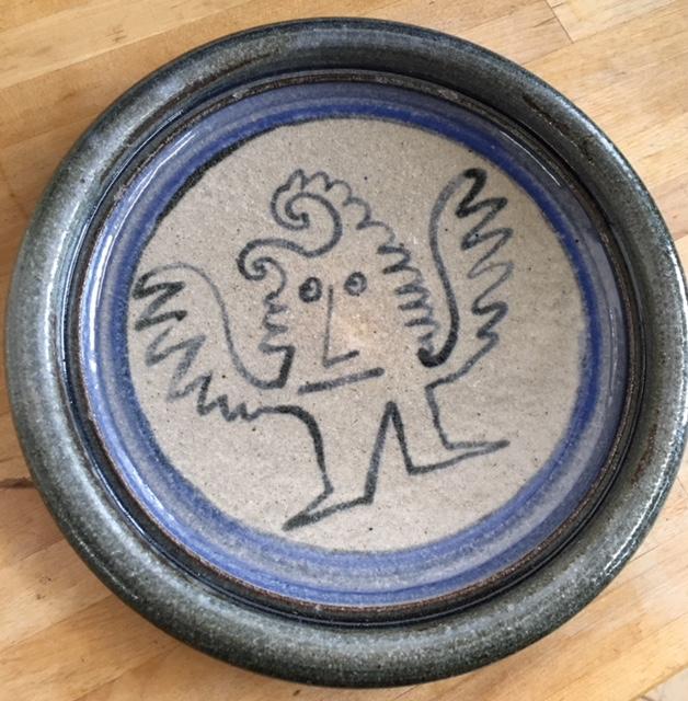 ID stamped DA75 ceramic plates-Naive Illustration Img_2716
