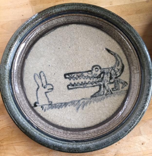 ID stamped DA75 ceramic plates-Naive Illustration Img_2717