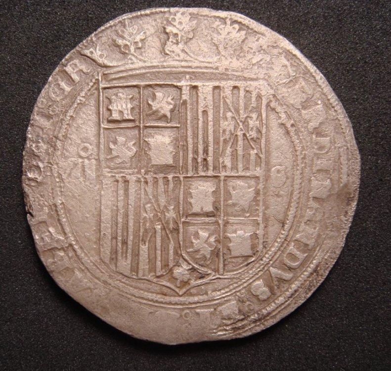 presentación 8 reales a Nombre de los RRCC, ceca de  Sevilla.  000aze15