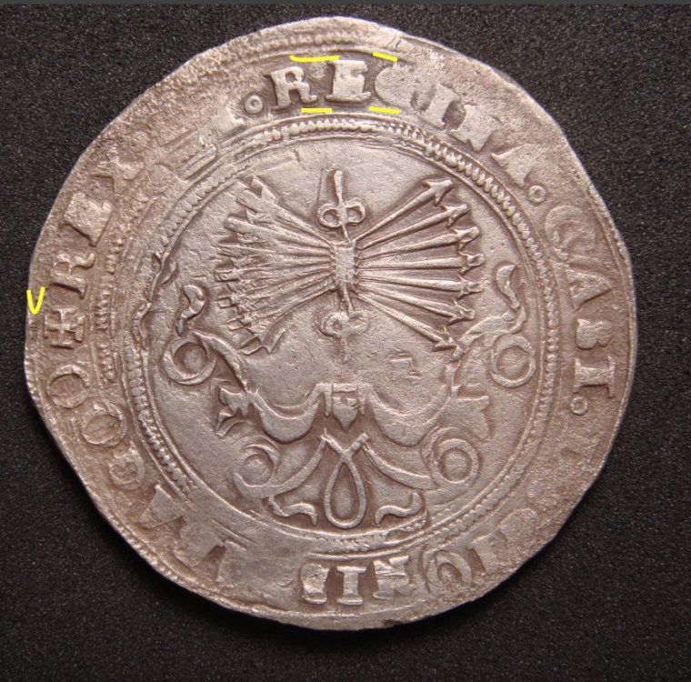 presentación 8 reales a Nombre de los RRCC, ceca de  Sevilla.  000aze16