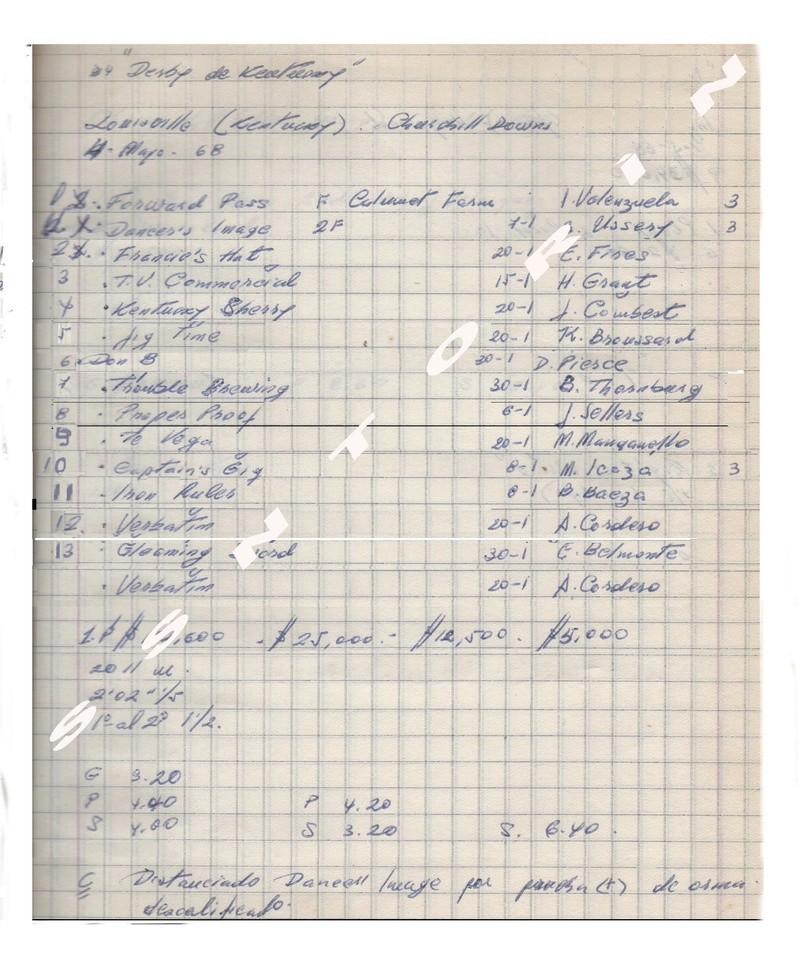 1968_ KENTUCKY DERBY : FORWARD PASS 1968_k13