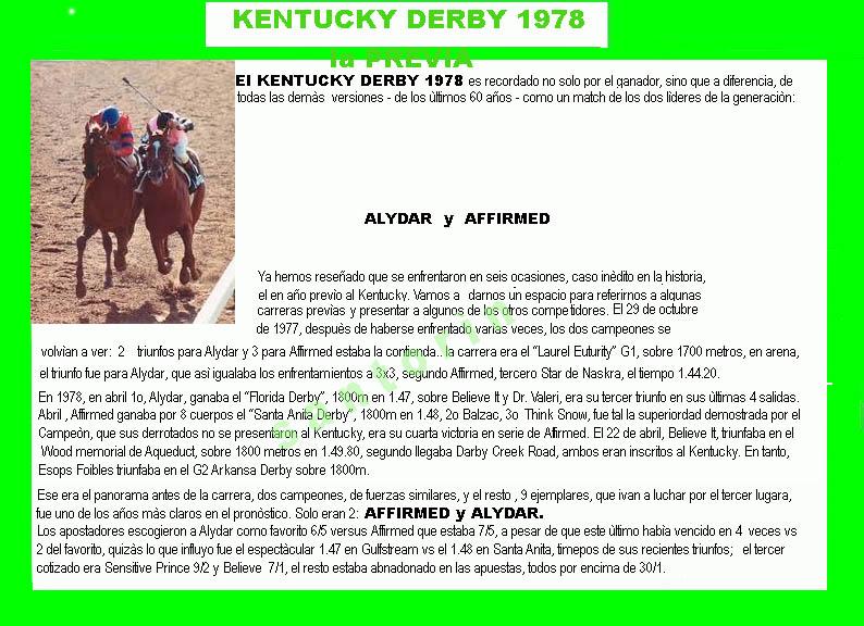 1978 - HACE 40 AÑOS - BELMONT STAKES - AFFIRMED TRIPLE CORONADO 1978-a11